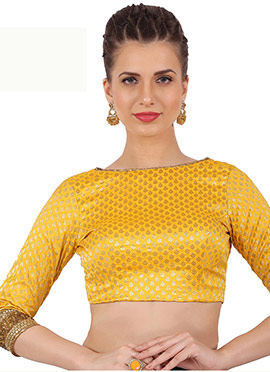 Yellow Brocade Blouse