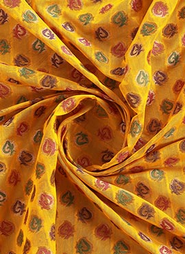 Yellow Brocade Fabric