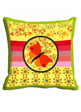 Yellow Butterfly Cushion Cover
