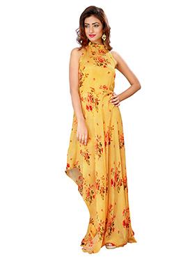 Yellow Chiffon Gown