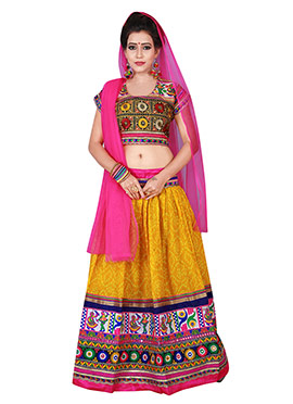 Yellow Cotton Chaniya Choli