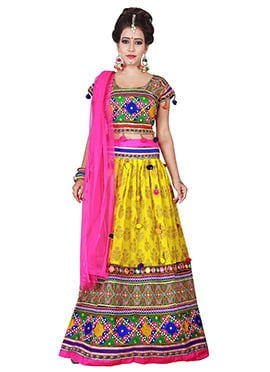 Yellow Cotton Chaniya Choli