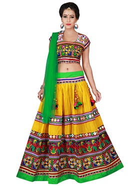 Yellow Cotton Chaniya Choli Lehenga