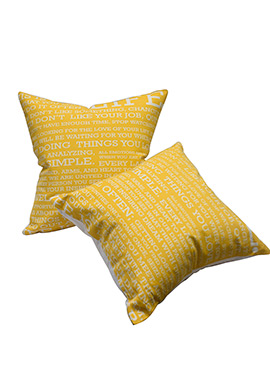Yellow Cotton Cushion Cover