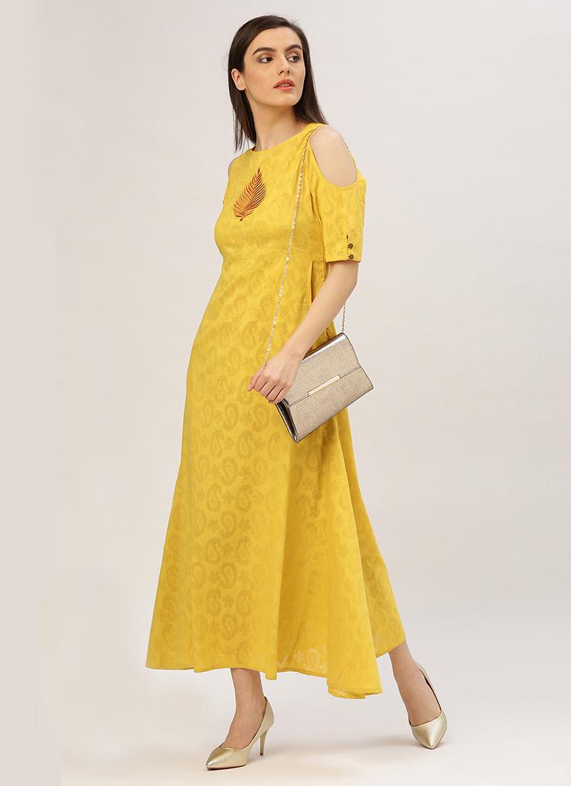 6026844b0def Buy Yellow Cotton Dress