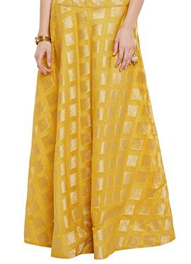 Studiorasa Yellow Cotton Skirt