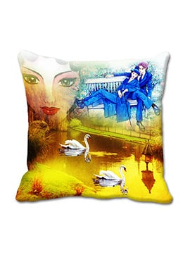 Yellow Couple Cushion Cover