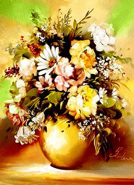 Yellow Flower Pot Canvas