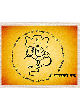 Yellow Ganpati Canvas