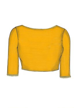 Yellow Georgette Blouse