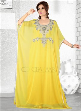 Yellow Georgette Farasha Fustan