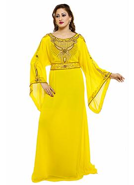 Yellow Georgette Fustan