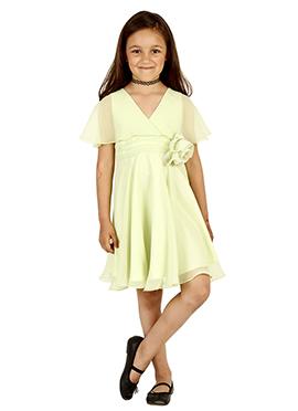 Yellow Georgette Kids Dress