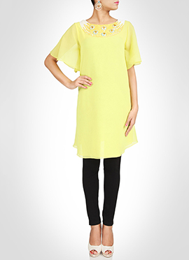 Yellow Georgette Tunic