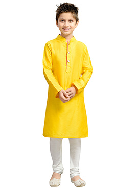 Yellow k And U Kurta Pyjama