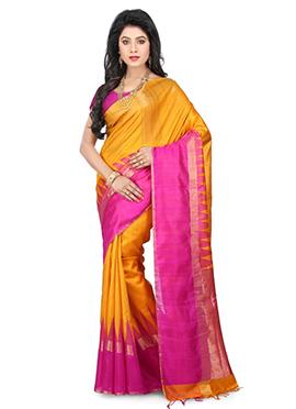 Yellow Kancheepuram Pure Silk Saree