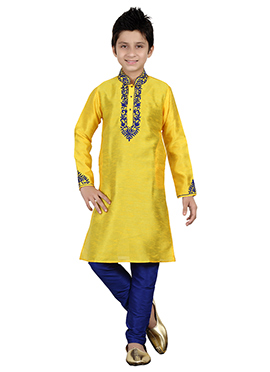 Yellow Kids Kurta Pyjama