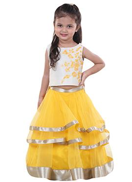 Chiquitita Yellow Kids Lehenga Choli