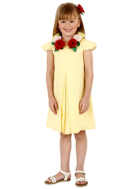 Yellow Linen Kids Dress