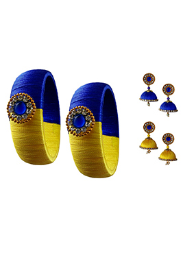 Yellow N Blue Bangles Combo