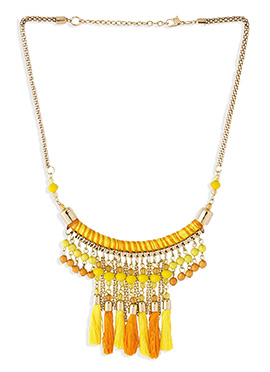 Yellow N Golden Chain Necklace