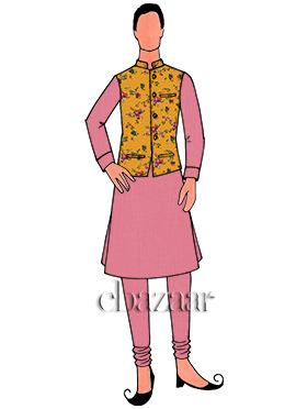 Yellow N Light Pink Cotton Bandi Set