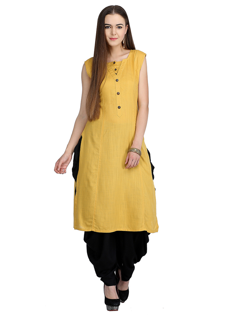 1efcde3fbc Buy Yellow Plain Salwar Set, After Six, indowestern sets and suits ...