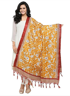 Yellow Printed Dupatta