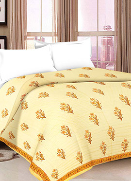 Yellow Pure Cotton Quilt
