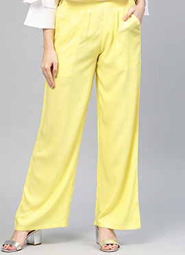 Yellow Regular Fit Palazzo Pant