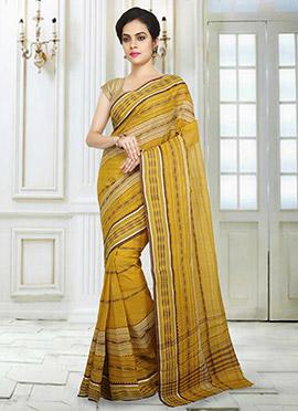 Yellow Tant Saree