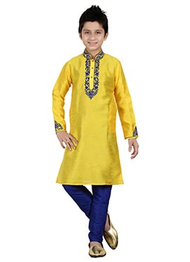 Yellow Teens Kurta Pyjama