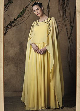Yellow Viscose Gown