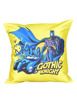 Yellow Warner Brother Batman Cushion Cover