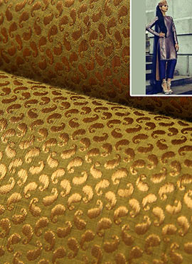 Gold Brocade Straight Pant Suit