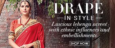Combination of Traditional Saree and Choli
