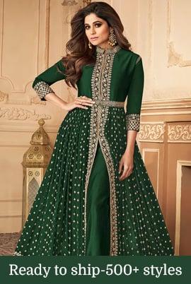 Details about  /Indian pakistani kurta kurti palazzo dupatta ethnic dress green combo party wear
