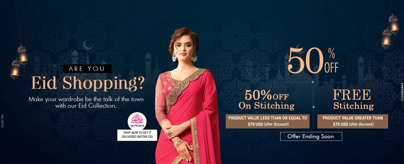 50% Off + 50% Off on Stitching + Free Stitching