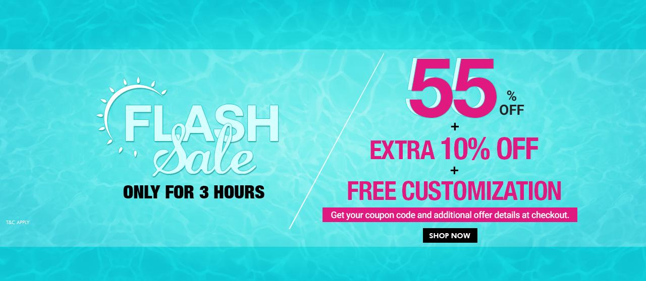 55% off + Extra 10% Off + Free Customization