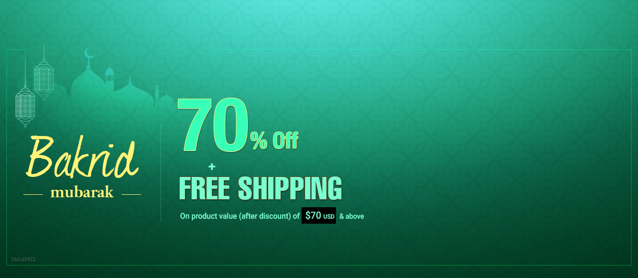 70% Off + Free shipping