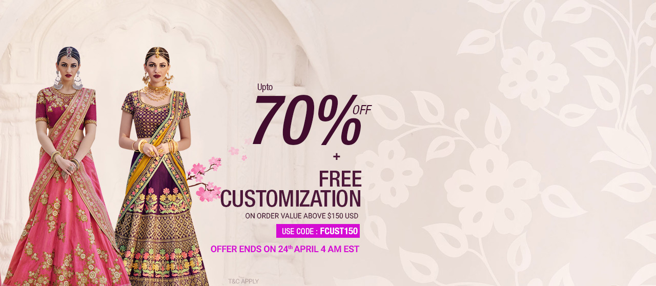 70% Off + Free Customization