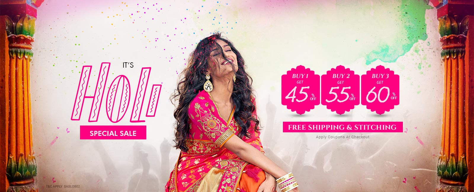 Buy 3 At Flat 60% off + Free shipping & stitching