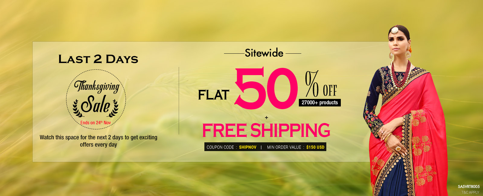 50% Off + Free Shipping