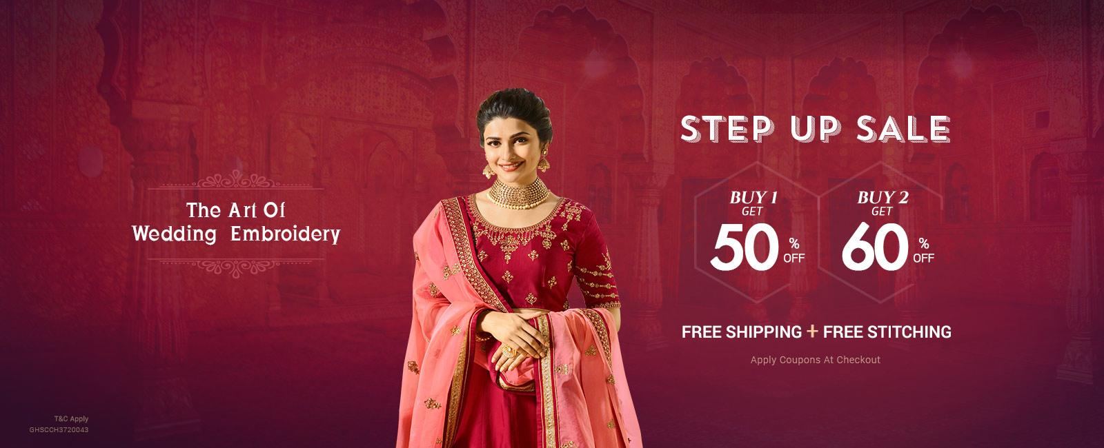 Stepup Sale Buy 2 Get Flat 60% Off
