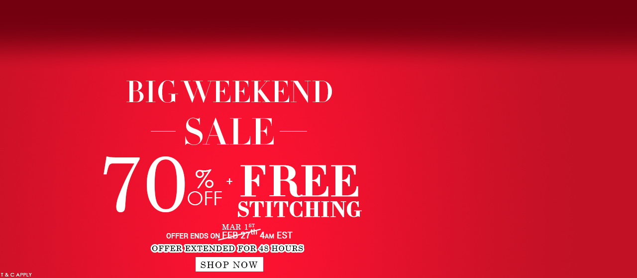 Big Weekend Sale