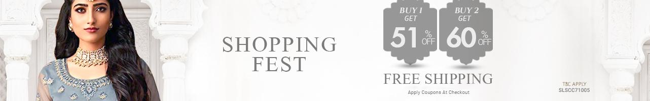Buy 2 at Flat 60% off+ Free shipping & stitching