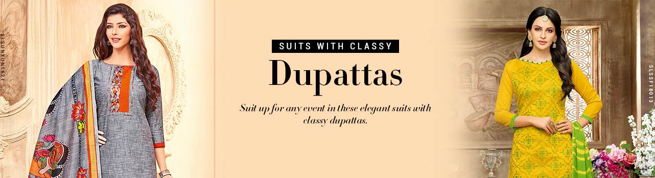 suits with classy dupattas