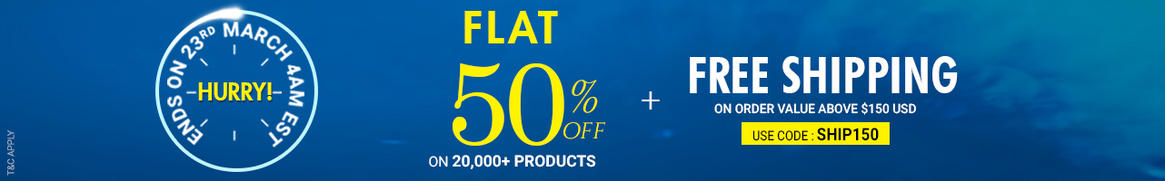 Flat 50% Off +Free Shipping