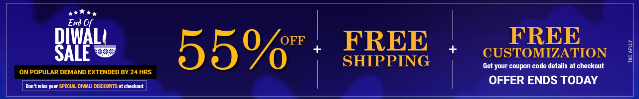 55% Off + Free shipping + Free Customization