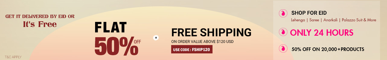 Flat 50% Off +Free Shipping